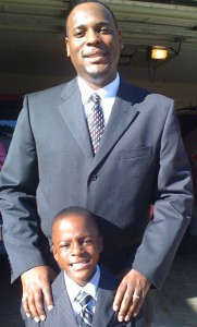 The late Timothy R. Brown, a JSU alum, and his son, Timothy R. Brown II.