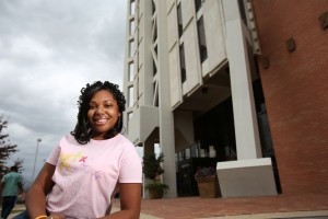 Senior business major Prisca Patrick has launches her own nonprofit, Purpose for Life, which raises awareness and support for the two causes that have shaped her life – childhood cancer and the perils of drunk driving.