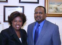 Dr. Ingrad Smith and College of Education Dean Daniel Watkins