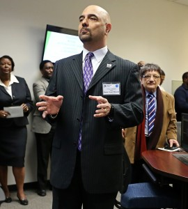 JSU is one of the few historically black colleges and universities to have a trading room as well as an accredited business college, said Dr. Ramin Maysami, dean of the College of Business. (Photo by Charles A. Smith, JSU)