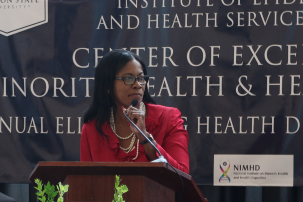 Dr. Marinelle Payton served as the conference organizer. (Photo by Spencer McClenty/JSU)
