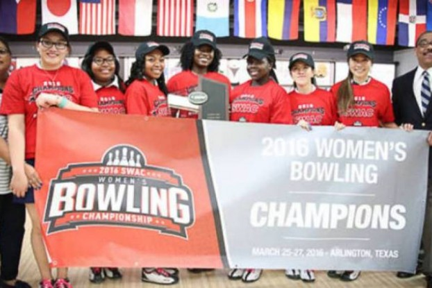 Lady Tigers win first SWAC Bowling Championship.