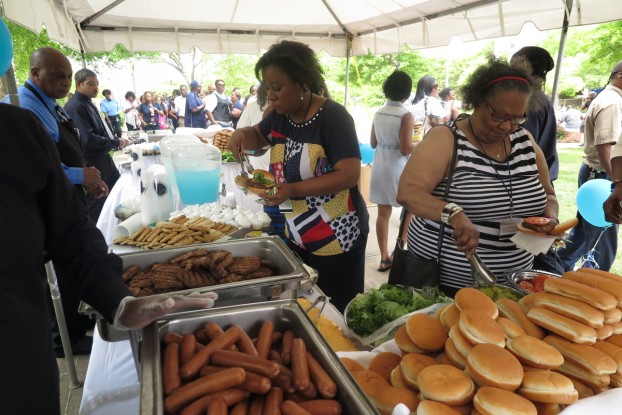 "There was plenty of food to go around during the ""fellowship"" appreciation. (Photo by Charles A. Smith/JSU)"
