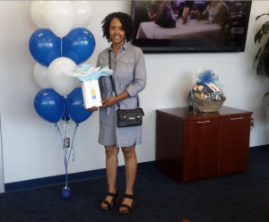"""Ayanna Evans in Facilities Management snagged first-place honors in the """"JSU Biggest Loser Weight Loss Challenge,"""" earning a $300 travel voucher."""