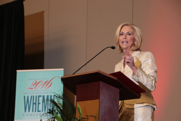Earlier this year, during the conference of Women in Higher Education Mississippi Network (WHEMN), hosted by Jackson State University, jMississippi Treasury Secretary Lynn Fitch touts financial literacy to overcome long-established hurdles. (Photo by Frank Wilson/JSU)