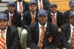 Donning JSU university caps, Chicago's Urban Prep Academy graduates declare their interest in becoming Tigers.