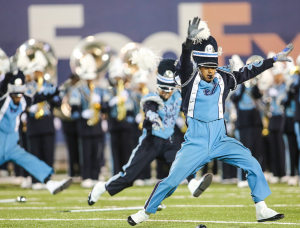 The Sonic Boom of the South is known for their high-energy, high-stepping, fiery performance style.