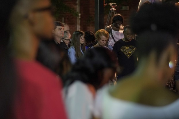Hundreds pay their respects to their fellow JSU classmate, Benjamin Sabine. (Photo by Charles A. Smith/JSU)