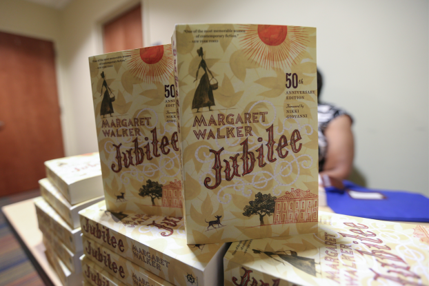 """On Sept. 6, Publisher Houghton Mifflin Harcourt released a 50th anniversary edition of """"Jubilee,"""" which includes a foreword from poet, writer, activist and educator Nikki Giovanni. The book was also released for the first time on ebook and audiobook. Photo by Charles A. Smith/JSU"""