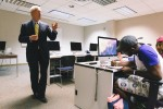 Former Gov. Ronnie Musgrove engages with students during his Seminar in Mass Communications class. (Photo by Justin Hardiman/JSU)
