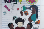 A Kids Kollege mural created by several students in the aftercare program at JSU. (Photo by Rachel James-Terry/JSU)