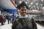 Rainey, a native of Clarksdale and the 12th of 18 children, prepares for graduation on Friday, Dec. 9, during fall commencement in the Lee E. Williams Athletics and Assemble Center on the main campus. She earned her specialist degree in elementary education. (Photo By Charles A. Smith/JSU)
