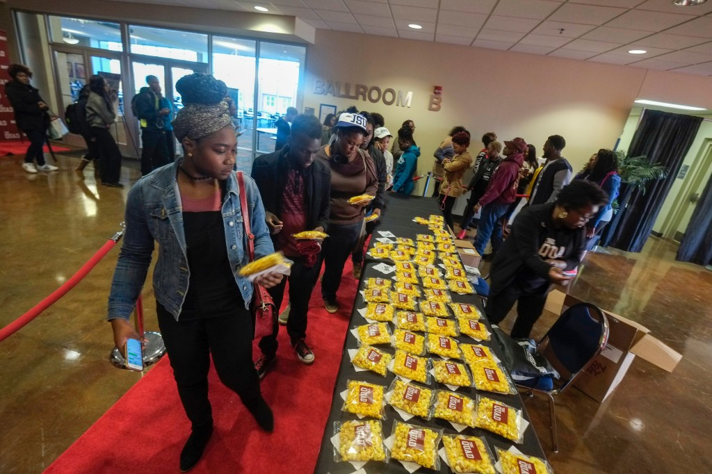 BET treated JSU students to popcorn, soda and 'Back to Campus Kits' during the private screening. (Charles A. Smith/JSU)