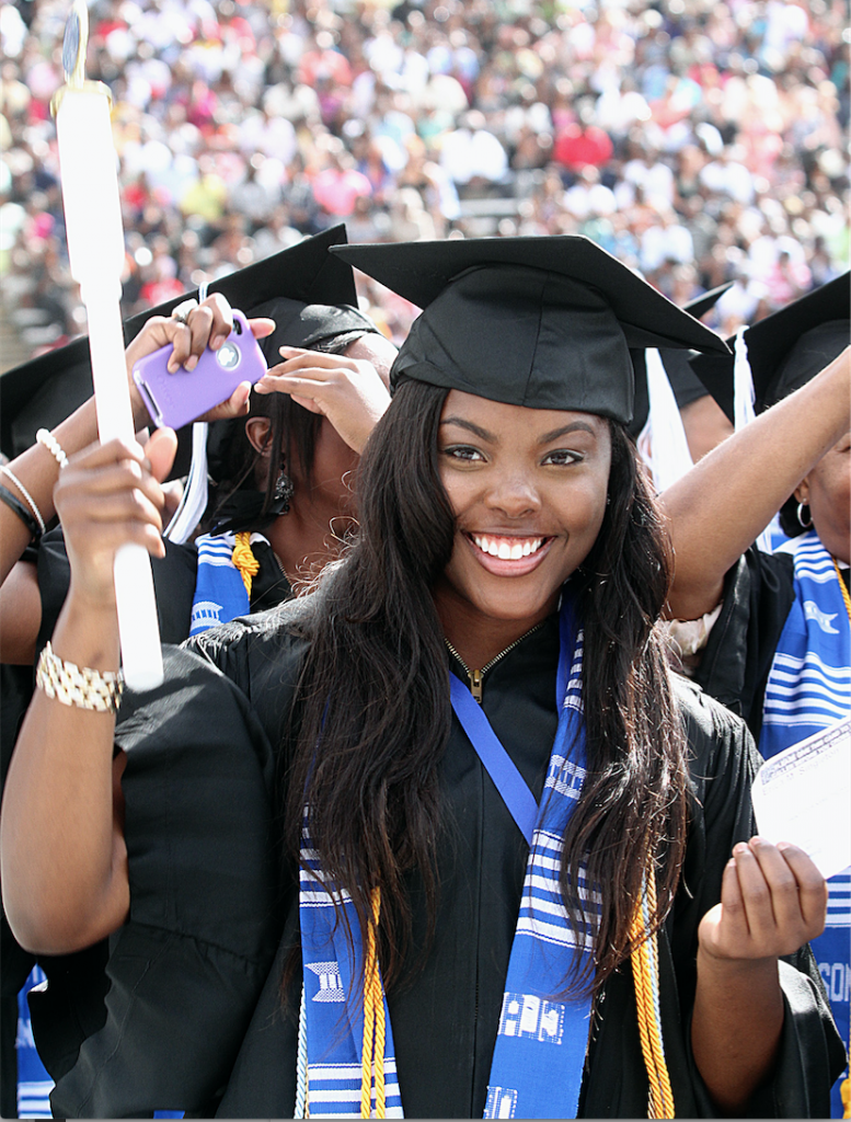 Michelle, who once was a failing student, graduated with Magna Cum Laude honors from JSU in 2012. (Charles A. Smith/JSU)