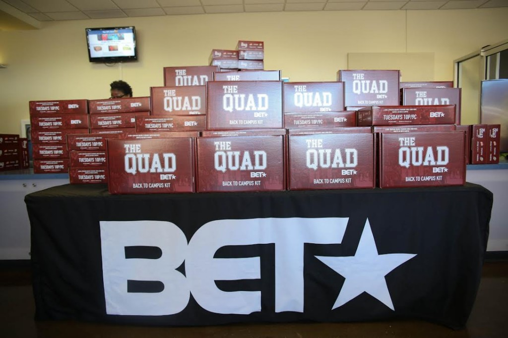 "BET gave students ""Back to Campus"" kits during the preview event for ""The Quad."" (Kentrice Rush/JSU)"