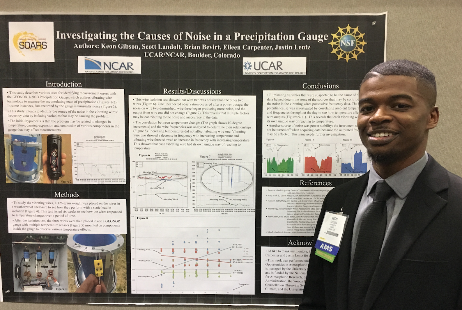 Research by Jackson State University meteorology student Keon Gibson, a junior in the Department of Physics, Atmospheric Sciences and Geoscience, aimed to improve measurements of precipitation accumulation.