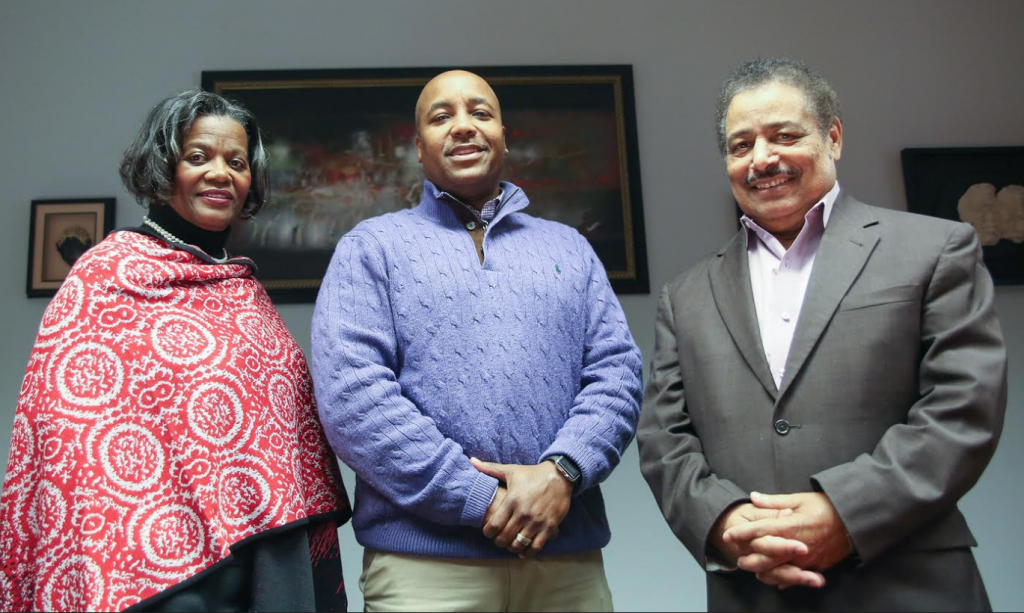 Dr. Pamela Banks, chair of the Clinical Psychology Department, Dr. Bryman Williams, director of clinical training and Dr. Azevedo, dean of the College of Liberal Arts (Photo by Kentrice Rush/JSU)