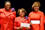 Jackson State University and Tougaloo College are each the recipients of $10,000.00 generated from personalized Delta car tags in the state. Left to right: Delta Sigma Theta Sorority National President Paulette C. Walker; Carshena Bailey, Mississippi State Coordinator;  Doris Bridgeman, who represented Tougaloo College; Stephanie Nellons-Paige, Interim First Lady of Jackson State University; and JMAC President Denise Griffin-Whittington.