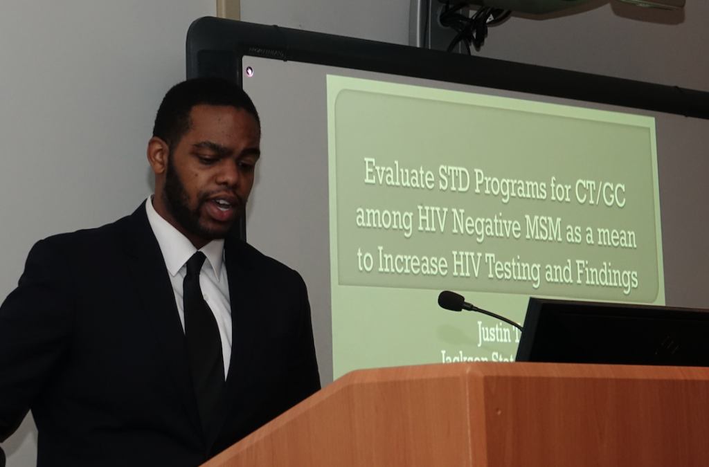 "During the colloquium, Justin Taylor delivered his study: ""Evaluate STD Programs for CT/GC among HIV negative MSM as a means to increase HIV Testing and Findings."""