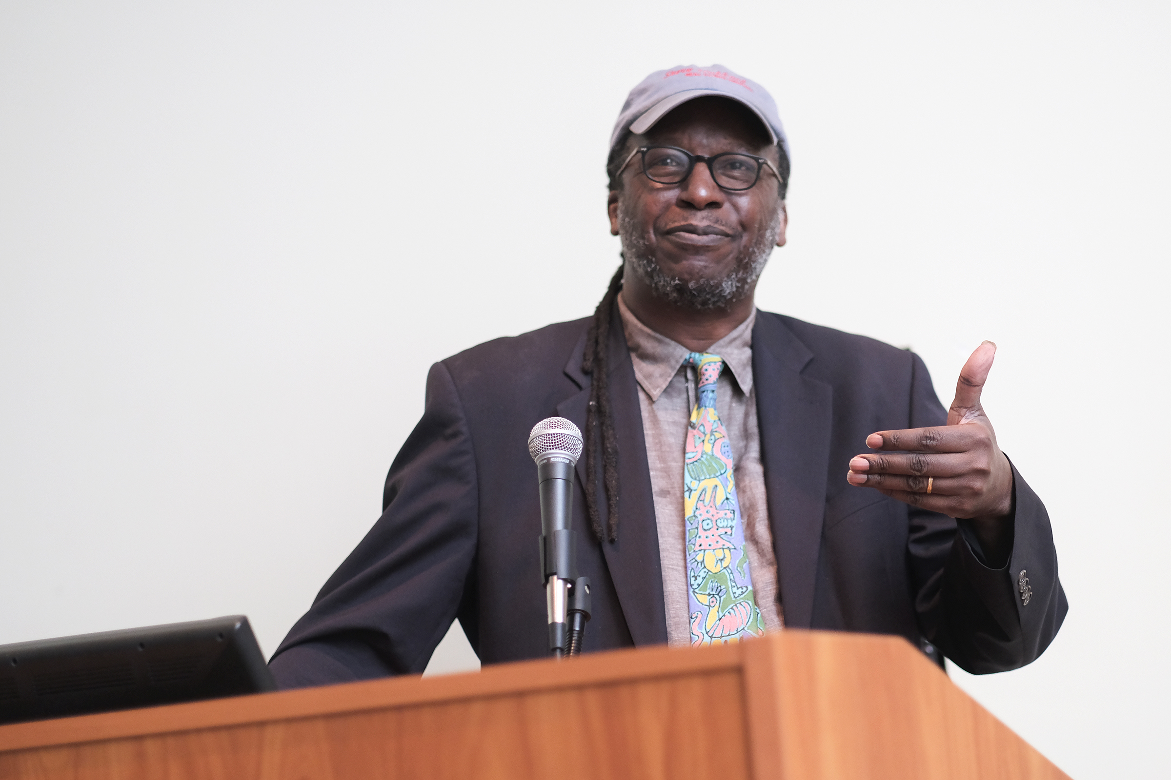 The Margaret Walker Center hosted the 11th annual Creative Arts Festival on the campus of Jackson State University April 12 -13. This year's keynote speaker was Cornelius Eady, accomplished writer and founder of Cave Canem - national organization for African American poetry and poets. (Charles A. Smith/University Communications)