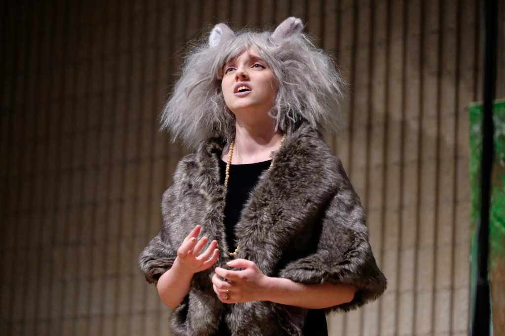 Laura Pitts, as Grizabella, performing Memory from the musical, Cats by Andrew Lloyd Webber. (Charles A. Smith/JSU)