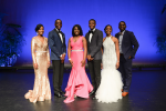 Contestants in the Mister and Miss JSU pageant include, left, XXXX; DreQuan Cooley; XXXX; Telandus Craft; XXXX; and De'Angelo Riddle. (Photo by Charles A. Smith/JSU)