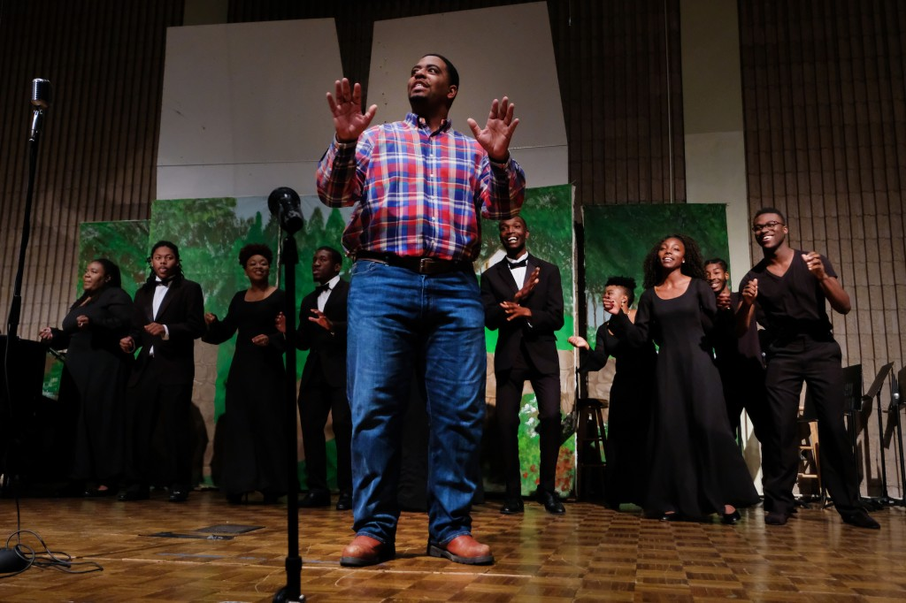 "Elijah Middleton stars as Andy in ""We're Goin' Around"" from the opera, Treemonisha by Scott Joplin. (Charles A. Smith/JSU)"