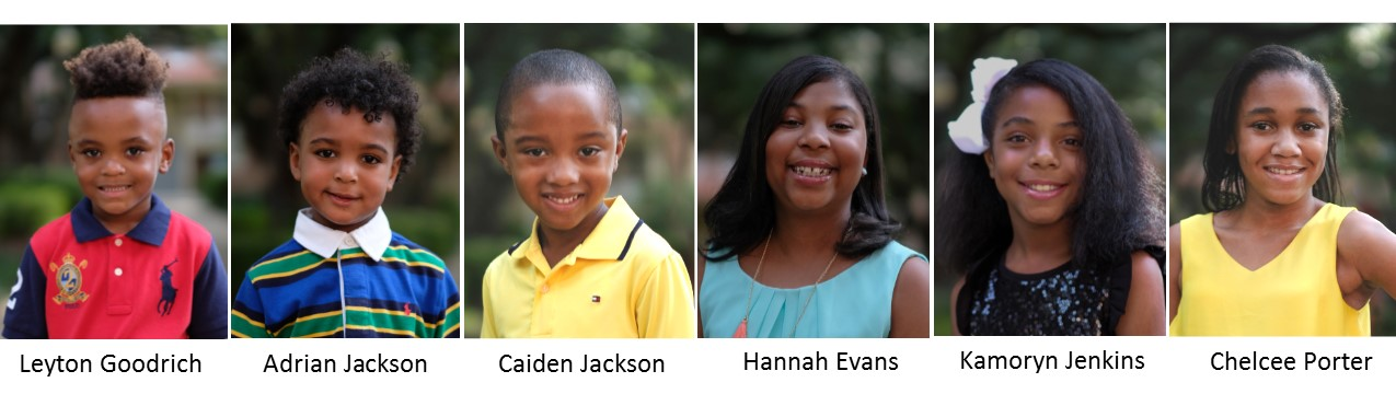 2017 Little Mister and Junior Miss JSU Constestants