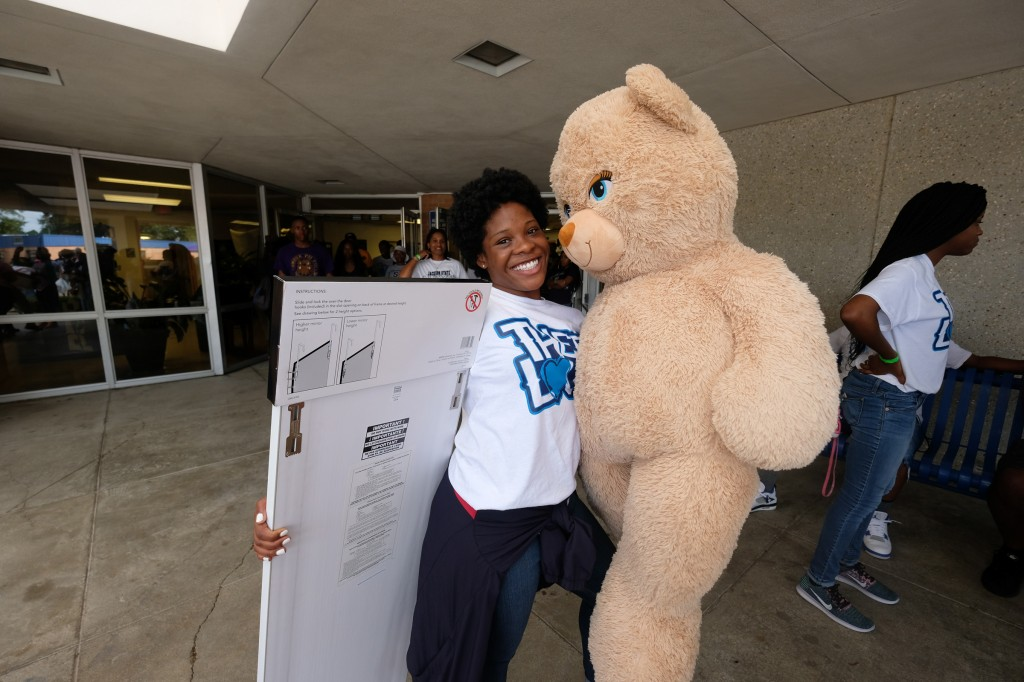 When it comes to what lies ahead for Gabby Baker at Jackson State she is all smiles. (Photo by Charles A. Smith/JSU)