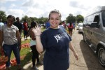 Heather Wilcox, neighborhood development assistant for the Center for University-Based Development at Jackson State University, spearheaded Crop Drop III with a number of community partners. Tuesday's event was held in the parking lot across from Blackburn Laboratory Middle School, 1311 W. Pearl St. (Photo by Charles A. Smith/JSU)
