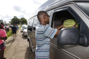 Watermelons were a popular addition to this year's Crop Drop. (Photo by Charles A. Smith/JSU)