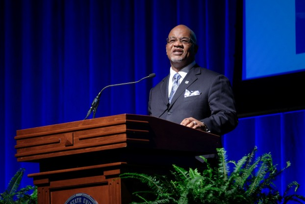 """Jackson State University President William B. Bynum Jr. said during the 2017 Fall Faculty and Staff Seminar on Thursday that """"it's a new day"""" at JSU as he trumpeted his keynote theme """"Living the Dream: Fulfilling Our Promise and Purpose."""""""