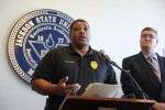 Jackson State University holds a press conference on arrest made in bomb threat at McAllister-Whiteside Residence Hall (Kentrice S. Rush/University Communications)