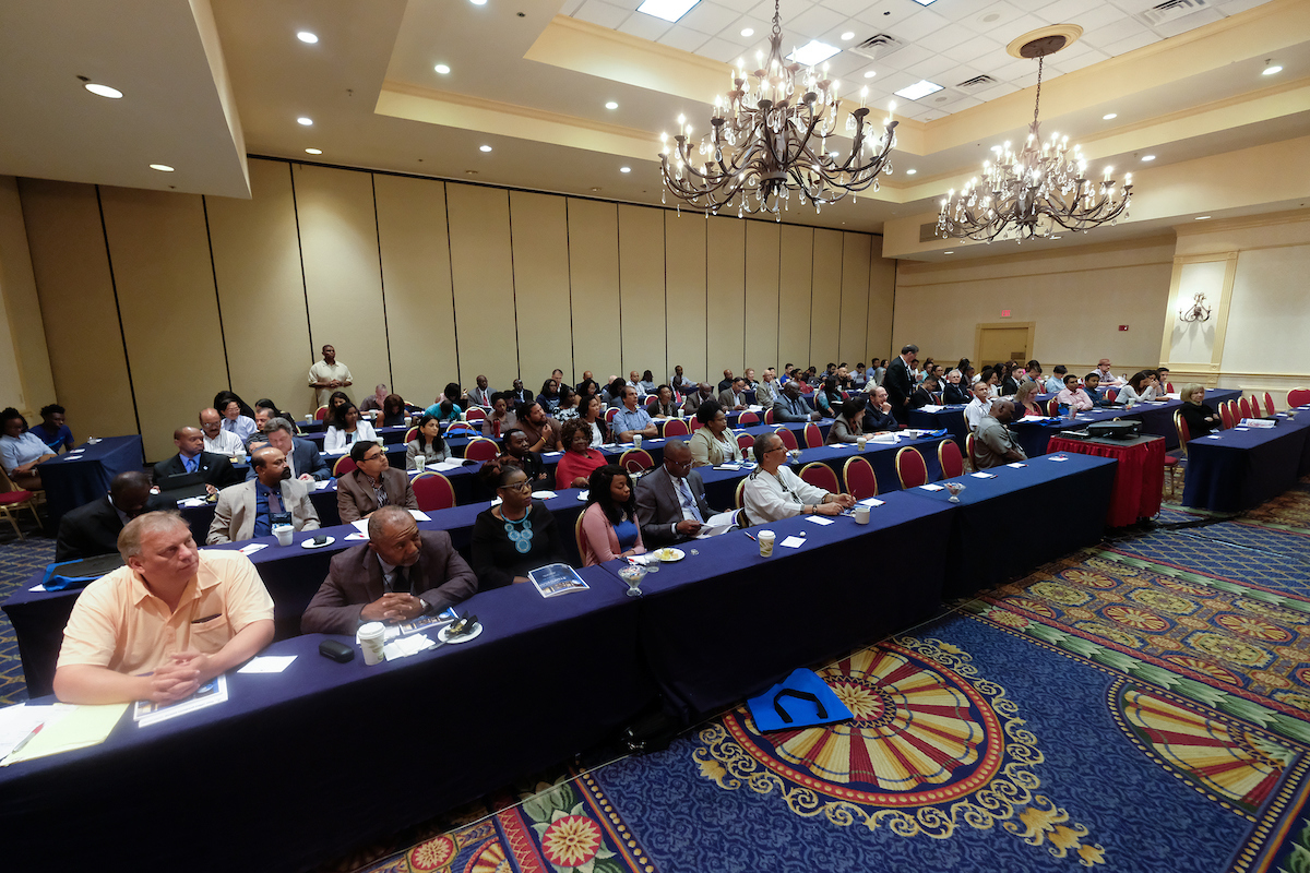 Dozens of visiting scientists from five continents attend the 14th International Symposium this week to discuss public health and environmental issues. (Photo by Charles A. Smith/JSU)