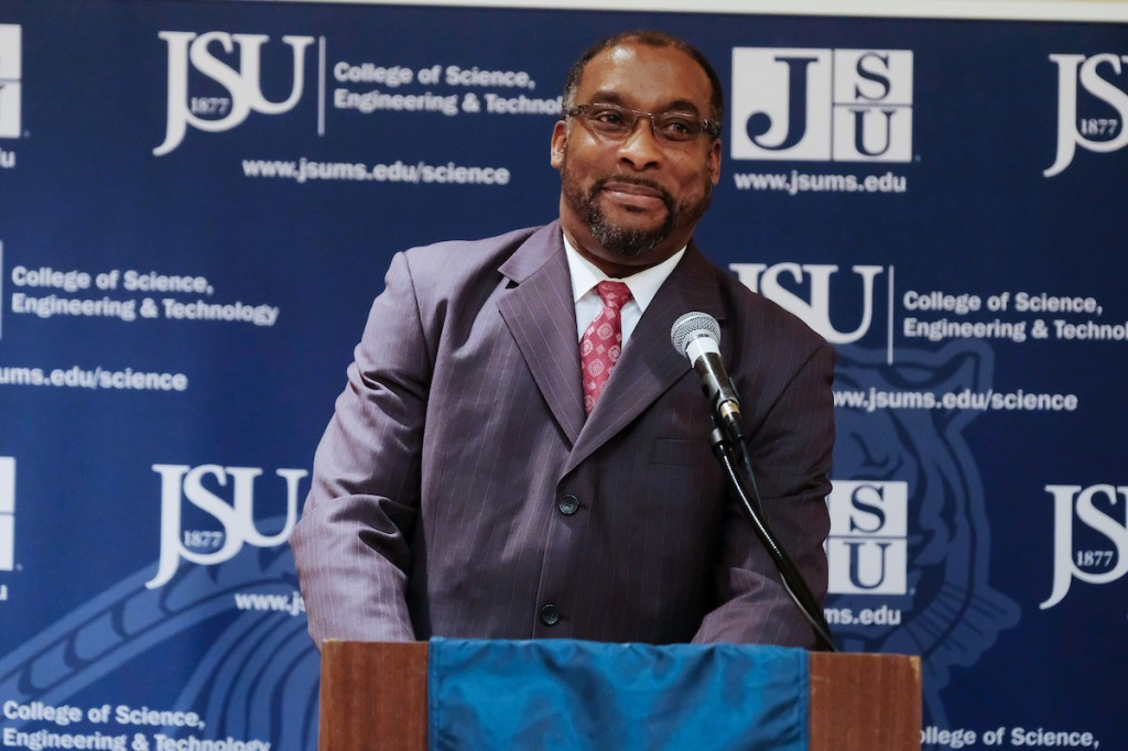 "JSU associate provost Dr. Joseph Whittaker called the conference a ""true reflection of our global connectivity."" (Photo by Charles A. Smith/JSU)"