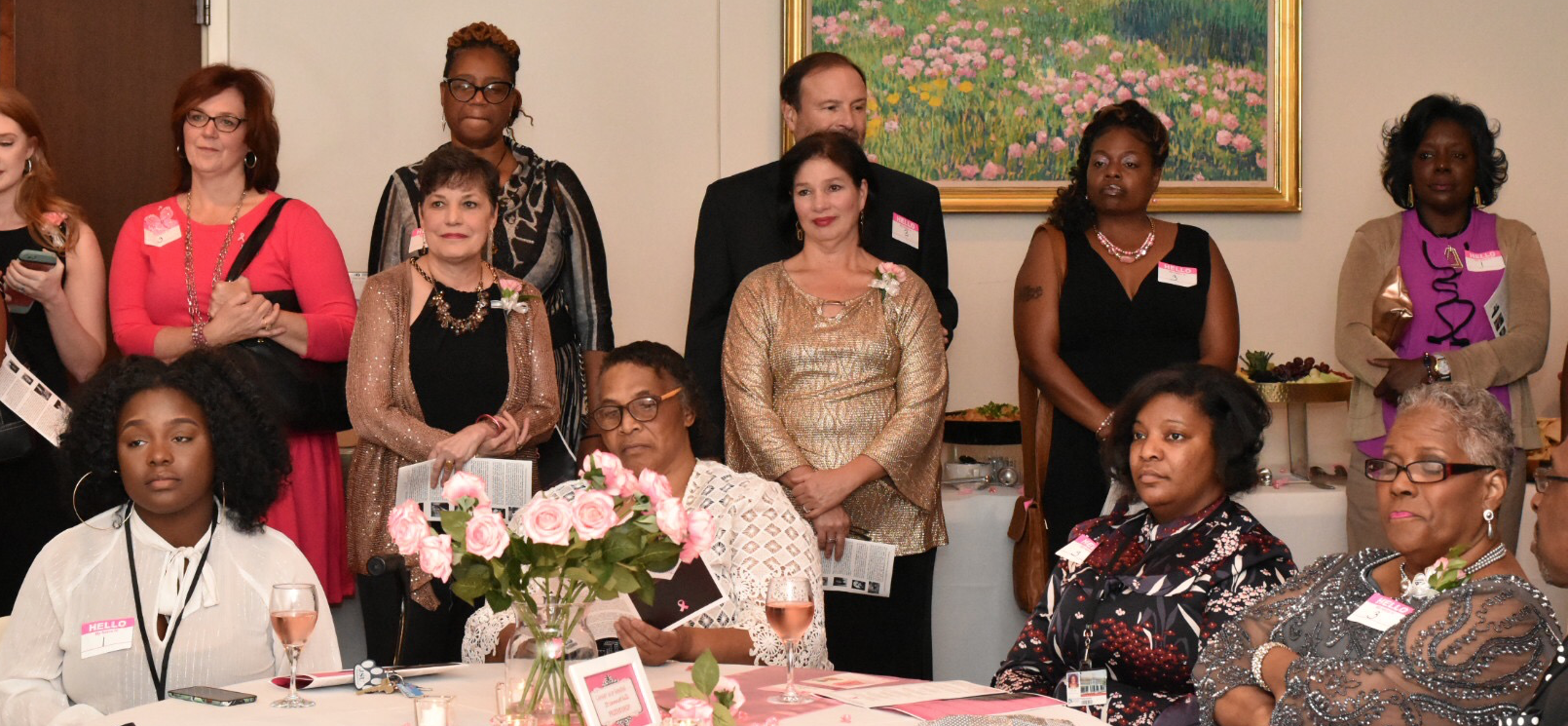 "Survivors and supporters assembled inside the museum to celebrate the powerful exhibition of ""The Beauty of Cancer."""