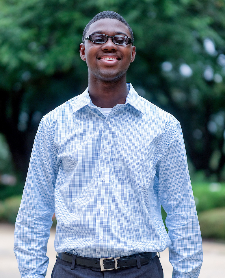 Jaylen Patrick, senior class president at Mississippi School for the Blind, will be among those who will benefit as more instructors are trained. (Photo by Charles A. Smith/JSU)