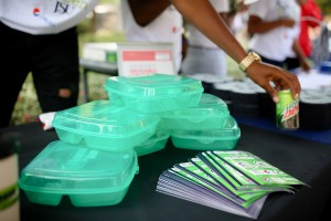 Sodexo Magic is providing reusable containers that replace Styrofoam and plastic. (Photo by Anissa Hidouk/JSU)