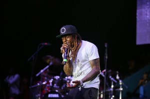 Dwayne 'Lil Wayne' Michael Carter Jr, 35, performed several of his hit songs during JSU's homecoming concert.