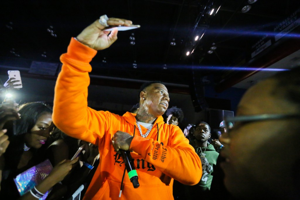 Yo Gotti engaged with the crowd, taking plenty of selfies. Spectators loved every bit of it. (Photo by Anissa Hidouk/JSU)