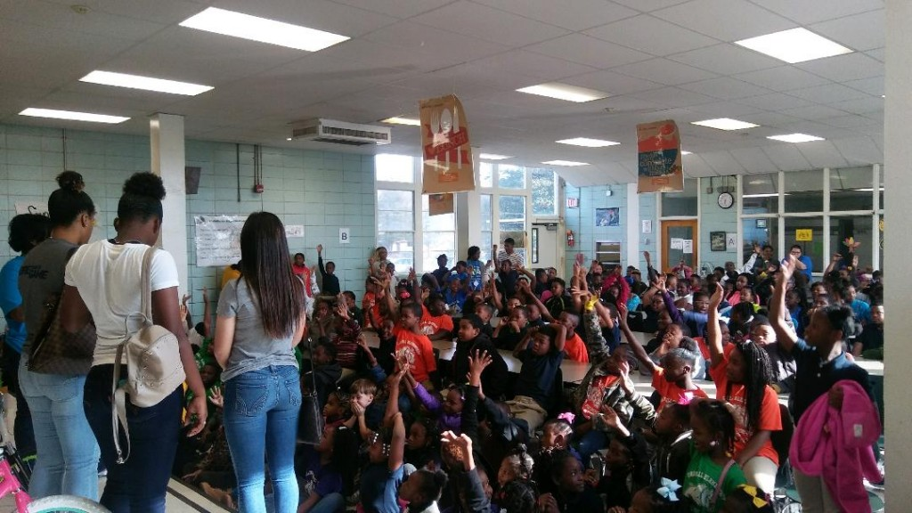 JSU student-athletes engage with Jackson Public Schools pupils at Clausell Elementary.
