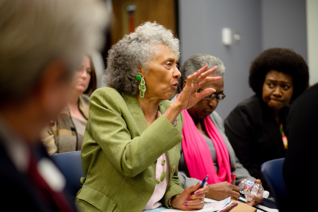 State Rep. Alyce Clarke posted a question from one of her constituents on how to assist children facing challenges in school due to a difficult homelife. (Photo by Anissa Hidouk/JSU)