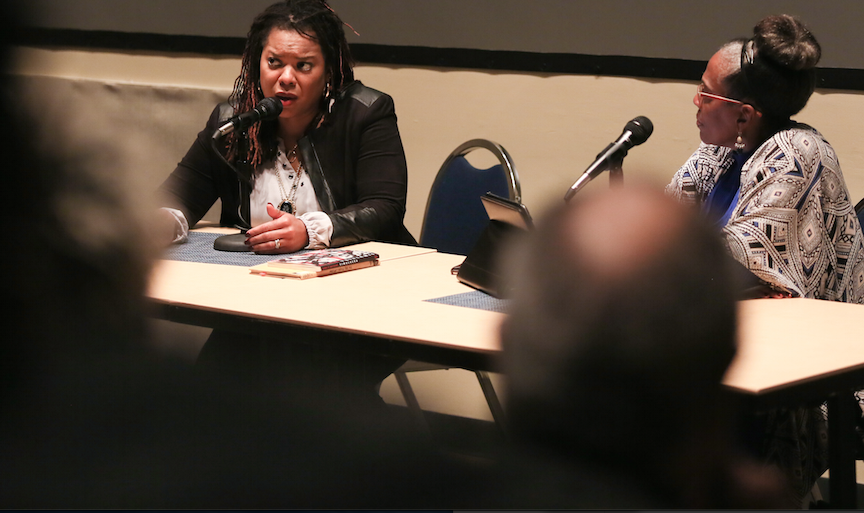 Airea D. Matthews encourages aspiring writers and poets to stay the course. (Photo by Aron Smith/JSU)