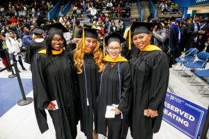 The combined ceremony included participants earning graduate degrees. (Photo by Charles A. Smith/JSU)