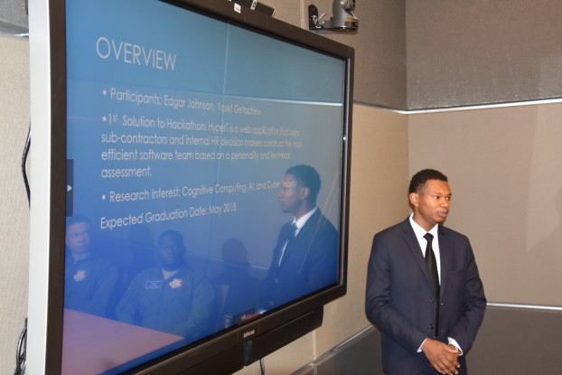 Edgar Johnson, a JSU senior computer engineering major from Chicago,  co-developed a web application called HyperT that helps build teams for optimum results.