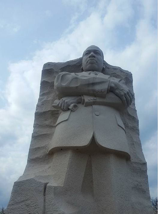 The Martin Luther King Jr., memorial in Washington D.C.  honors the civil rights martyr's legacy and the struggle for freedom, equality, and justice. (Photo by Rachel James-Terry/JSU)