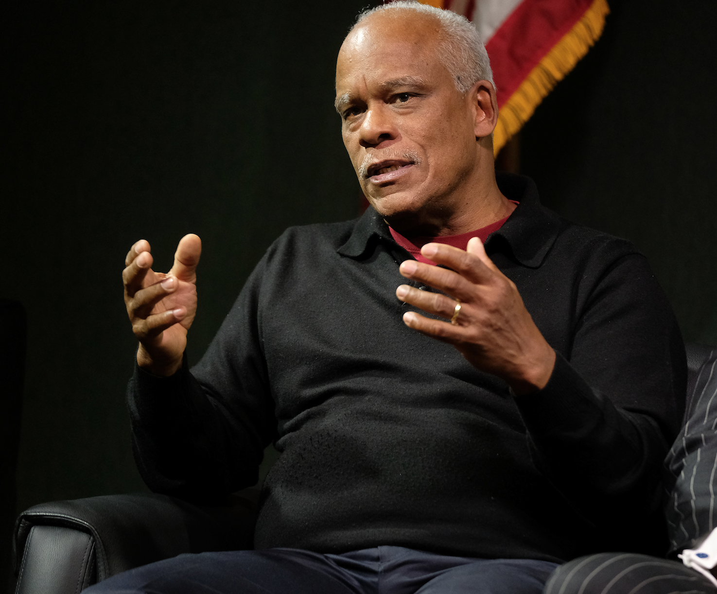 """Documentary filmmaker Stanley Nelson said """"Tell Them We Are Rising"""" highlights the importance of HBCUs. The institutions are credited with pulling people out of poverty and paving a path to the American dream. The film took 10 years to complete. He said, """"There's no way my mother and father would have gone to college if it had not been for HBCUs."""" (Photo by Charles A. Smith/JSU)"""