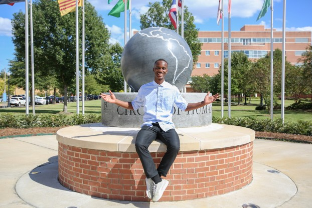 Abdoulaye Ba, a junior, political science major, was selected to receive the Princeton University Public Policy and International Affairs Fellowship that will take place June 13 - Aug.3. (Photo by Kentrice Rush/JSU)
