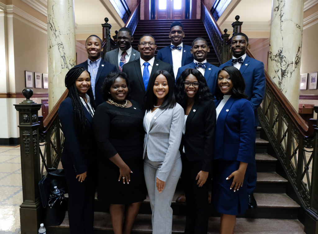 Student supporters from various campus departments attended the Capitol event to learn about lawmakers, legislation and lobbying. (Photo by Charles A. Smith/JSU)