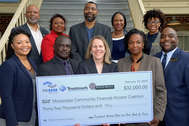 Trustmark National Bank, State Bank and Trust and FHLB Dallas partnered to award $32,000 in Partnership Grant Program funds to further financial literacy in Mississippi.